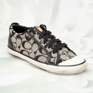Coach Barrett Designer Two-Tone Sneakers Shoes